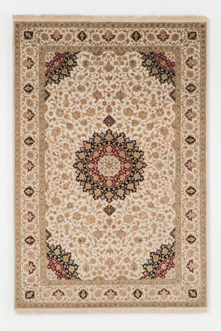 Picture of 5X7 NEW TABRIZ IVORY WOOL & SILK