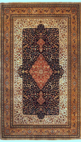 Picture of 4x6 Shah Kashan Black/Beige