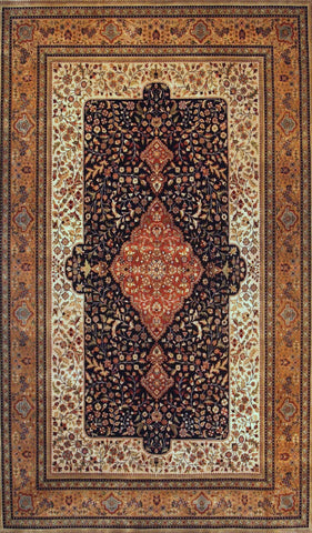 Picture of 2x3 Kashan Beige/Black