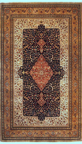 Picture of 6X9 SHAH KASHAN BLACK/BEIGE