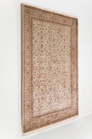 Picture of 6X9 KASHAN IVORY/LIGHT BROWN