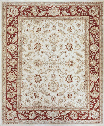 Picture of 8x10 Chobi Ivory/Red Ghazni Wool