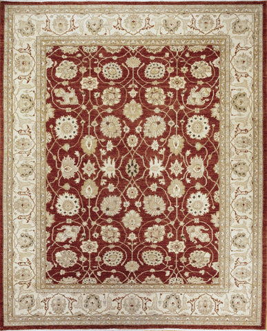 Picture of 8x10 Chobi Red/Ivory Ghazni Wool