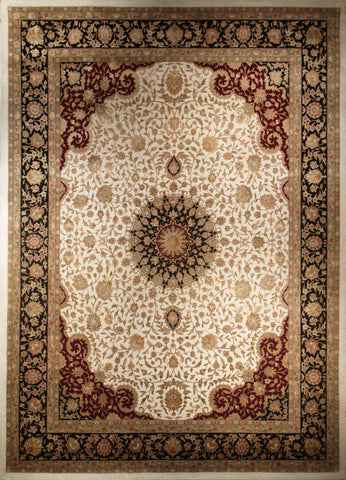 Picture of 8X10 Tabriz Ivory/Black