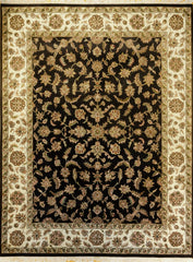 8x10 Indo Persian Black/Beige