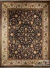 8x10 Indo Persian black/cream