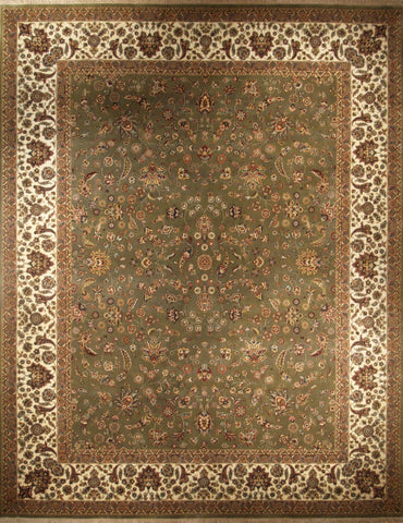 Picture of 8x10 Indo Persian Green/Cream