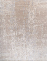 9x12 Marble Collection Taupe/Grey Wool and Bamboo Silk
