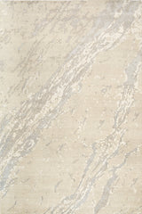 *NEW: 6x9 Marble Beige/Lt. Blue/Off White Wool and Bamboo Silk