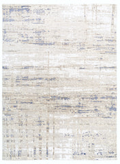 *NEW: 9x12 Marble Off White/Beige/Blue Wool and Bamboo Silk