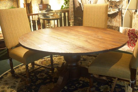 Picture of Reclaimed Teak Round Table 5 Piece set