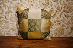Green/Gold Polyester Cushion