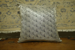 Silver Polyester Cushion