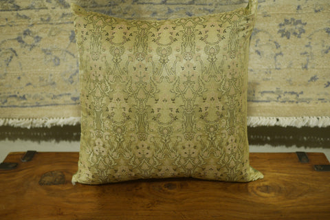 Picture of Sage Green/Gold Polyester Cushion