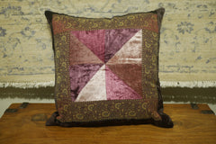 Multi-colour Velvet Cushion