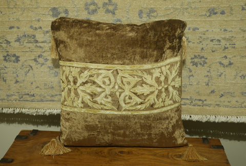 Picture of Sage Green Velvet Cushion