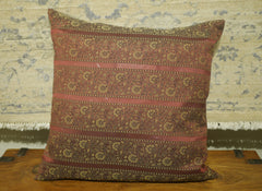 Burgundy Polyester Cushion