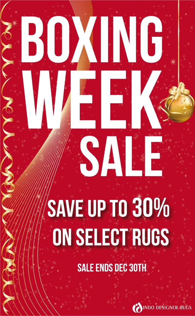 Indo Designer Rugs Boxing Week Sale