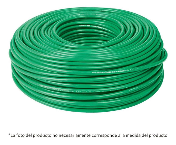 CABLE THW NO 12 VERDE C/100 MTS. CAB-12V