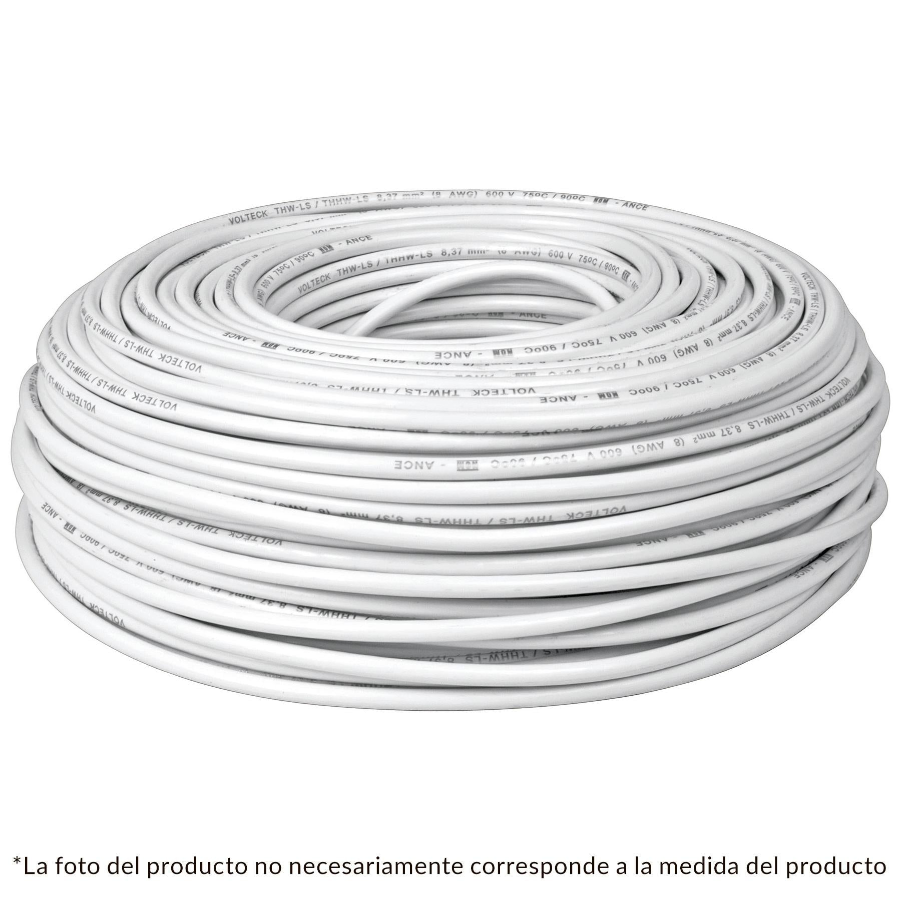 CABLE THW NO 12 BLANCO C/100 MTS.