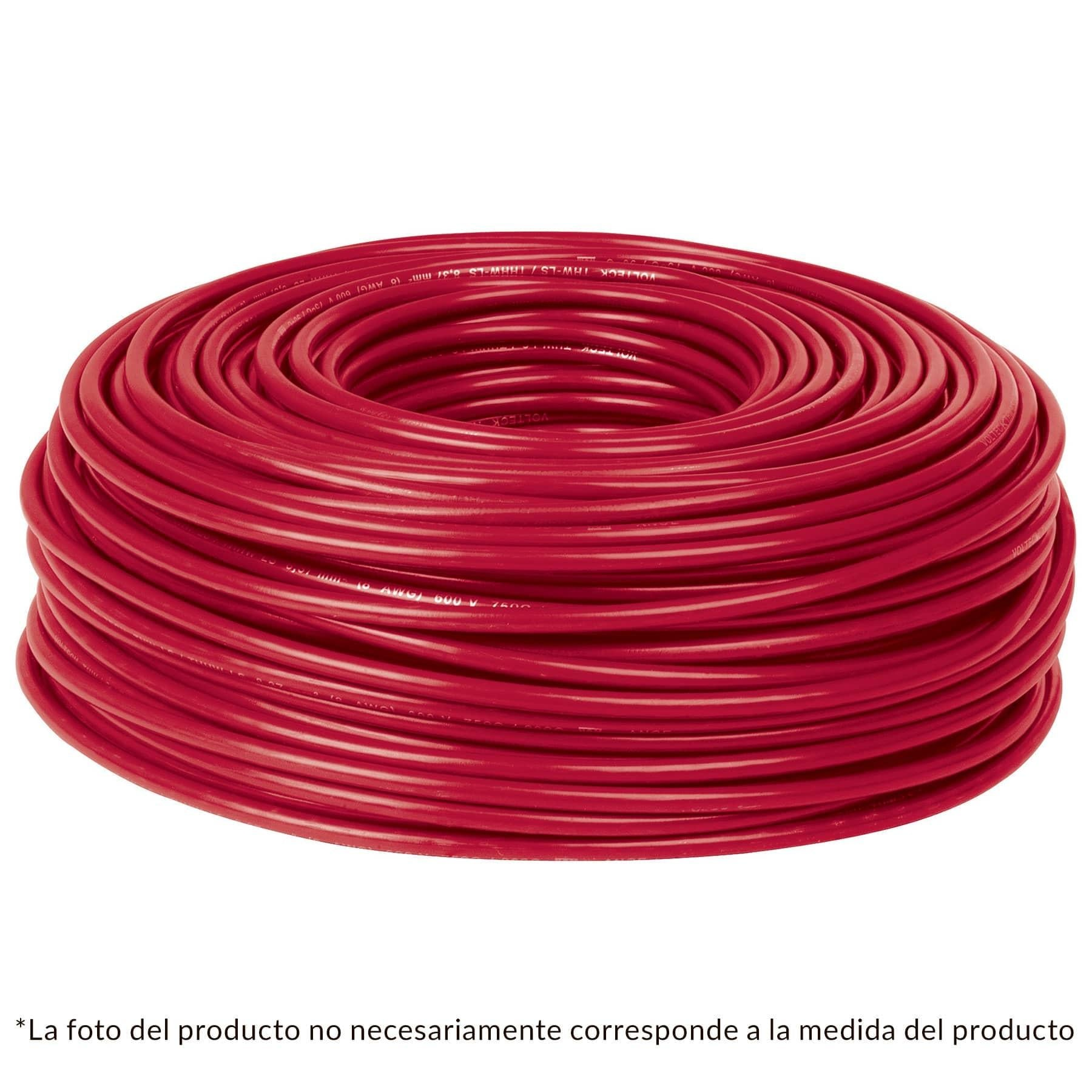CABLE THW NO 14 ROJO C/100 MTS.