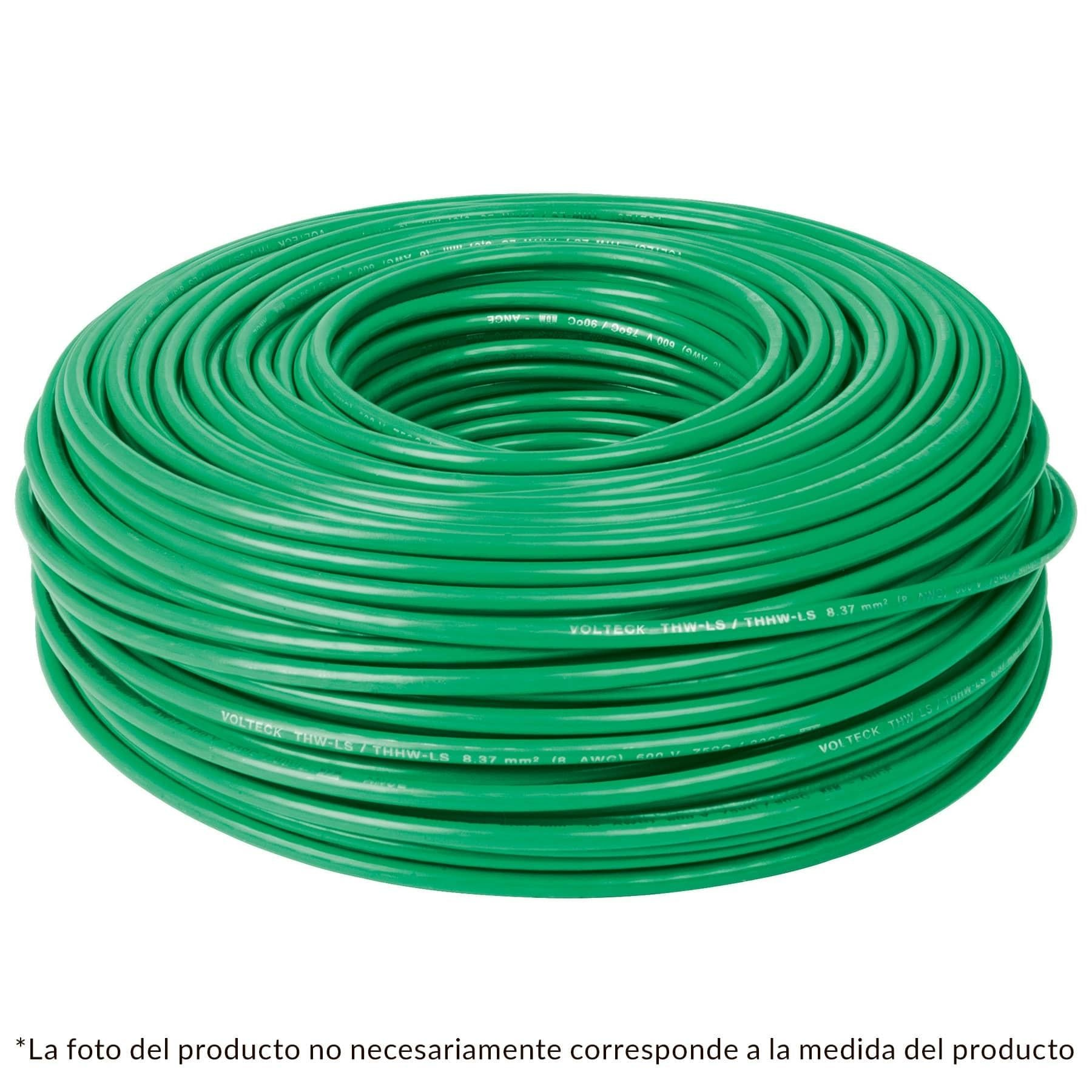 CABLE THW NO 14 VERDE C/100 MTS.