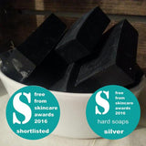 Soapnuts - Activated Charcoal Soap - Naked Pinecone