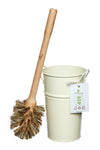 Eco Living -  Plastic Free Toilet Brush and Holder Set - Cream
