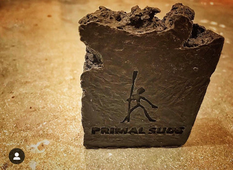 Primal Suds Soap - Caveman Black - Naked Pinecone