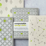Eco Living - Compostable Cleaning Cloths - 4 pack