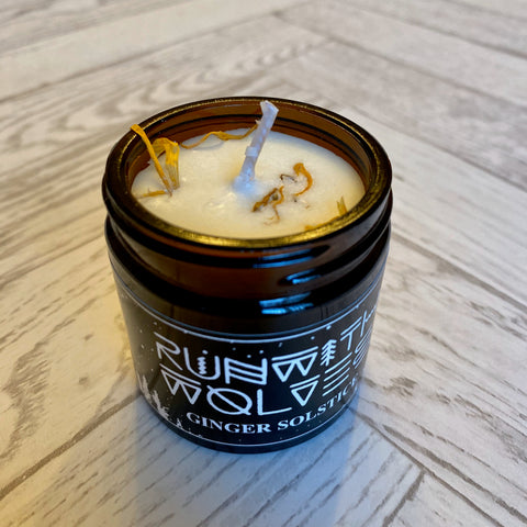 Run with Wolves - Vegan Soy Candles - GINGER SOLSTICE