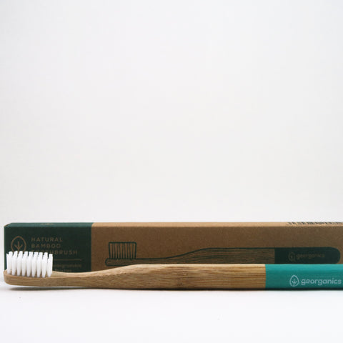 Georganics Bamboo Toothbrush - Green
