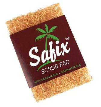 Safix Scrub Pad - Coconut Fiber Scouring Pad - Naked Pinecone