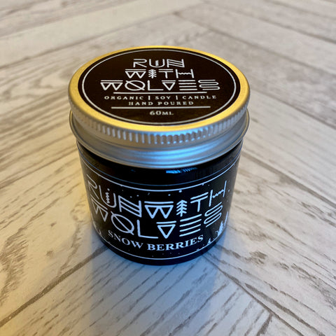 Run with Wolves - Vegan Soy Candles - SNOW BERRIES