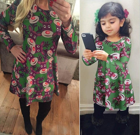 mommy and me christmas dress mom kids colour 5 daughter 7t