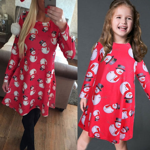 mommy and me christmas dress mom kids colour 8 daughter 7t