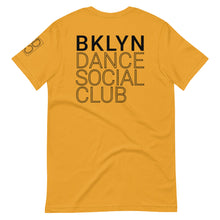 Load image into Gallery viewer, Brooklyn Dance Social Club t-shirts for dancers men women Unisex Mustard Yellow