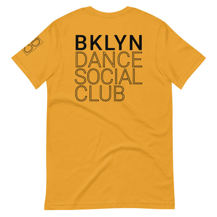 Brooklyn Dance Social Club t-shirts for dancers men women Unisex Mustard Yellow
