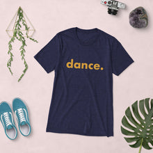 Load image into Gallery viewer, Dance. t-shirts for dancers men Blue Yellow