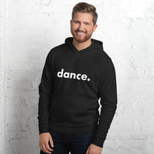 Load image into Gallery viewer, Dance. hoodie for dancers men Black and White Unisex