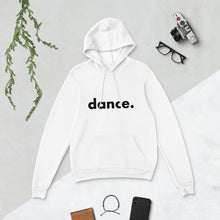 Load image into Gallery viewer, Dance. hoodie for dancers men women White and Black Unisex