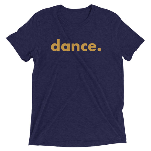 Dance. t-shirts for dancers men Blue Yellow