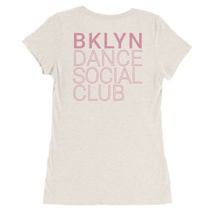 Brooklyn Dance Social Club t-shirts for dancers women White Pinkx