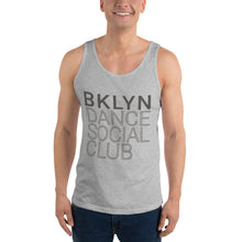 Load image into Gallery viewer, Brooklyn Dance Social Club tank top for dancers men unisex grey