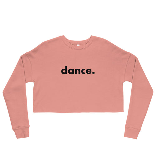 Dance. crop sweatshirts  for dancers women  Pink