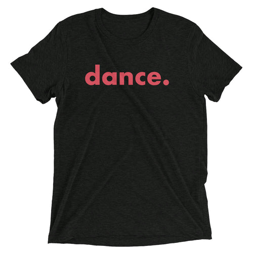 Dance. t-shirts for dancers men Black Red