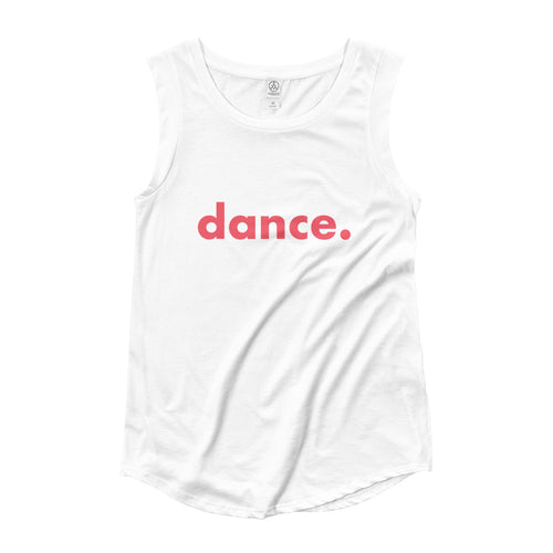 Dance.  tank top for dancers women White and Red
