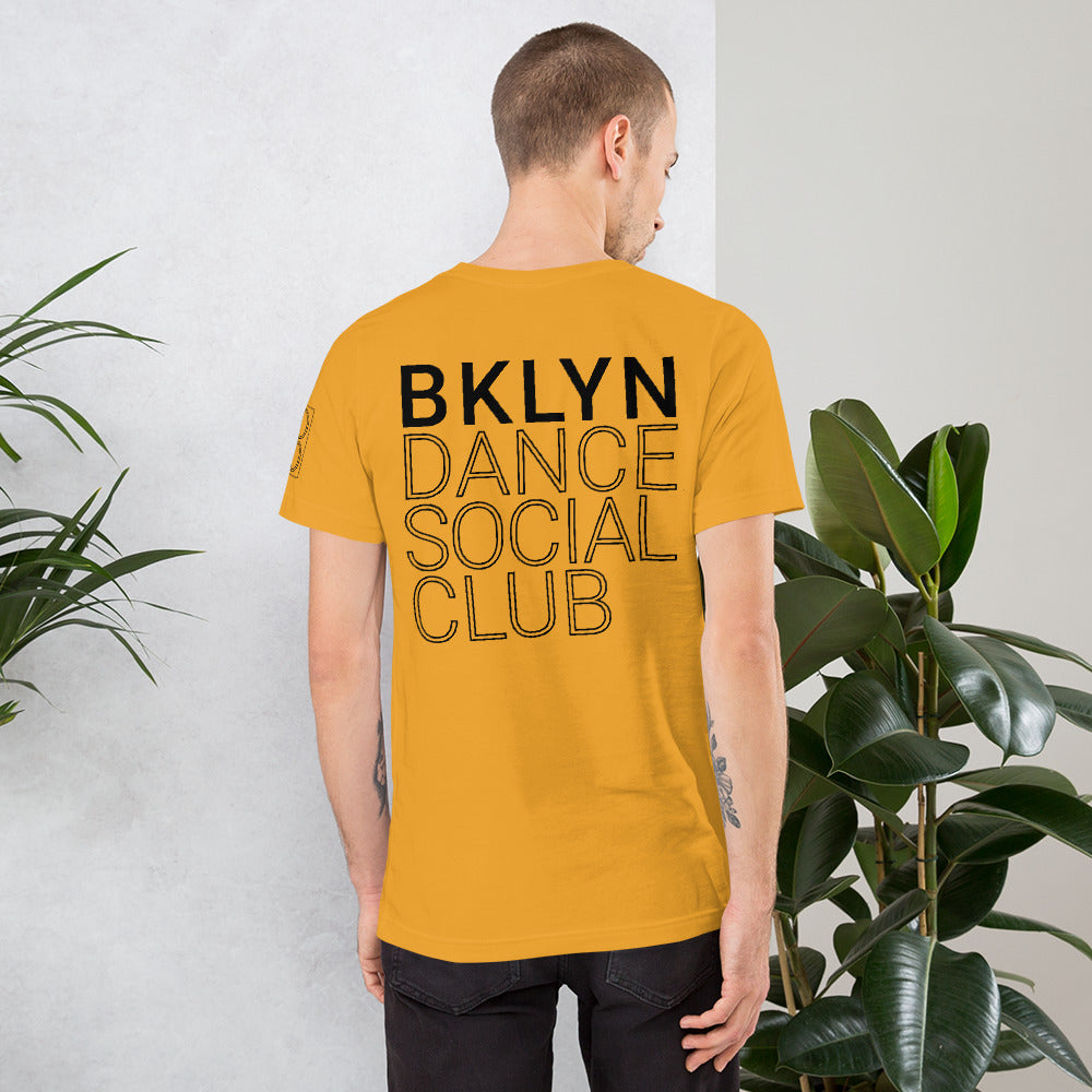 Brooklyn Dance Social Club t-shirts for dancers men  Unisex Mustard Yellow