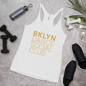 Brooklyn Dance Social Club Racerback tank top for dancers women White Mustard