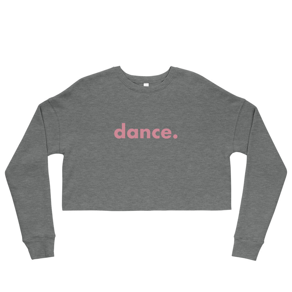 Dance. crop sweatshirts  for dancers women Grey and Pink